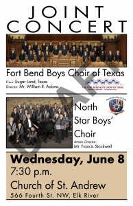 2016 Fort Bend joint concert poster
