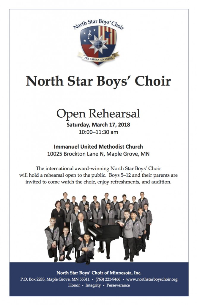 NSBC open rehearsal March 2018